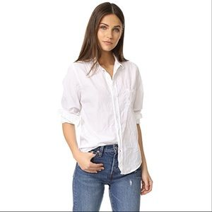 Frank & Eileen top Barry signature crinkle blouse